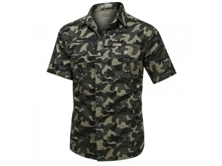 Casual Camouflage Cotton Shirts
