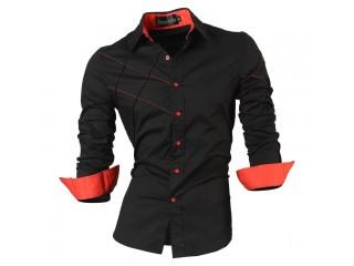 Casual Shirts Men's Clothing Social Slim Fit Shirt