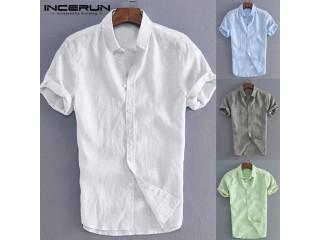Elegant Male Tee Tops Casual Shirts Men Social Shirt