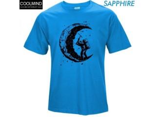 100% Cotton Gigging the Moon Print T-shirt