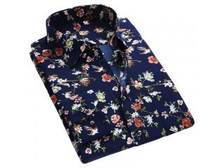 Floral Print Men Shirts Men's Casual Shirt