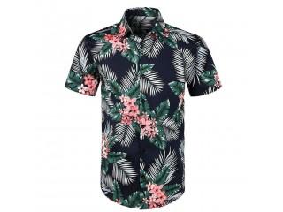 Floral Shirts Men Casual Printed Hawaiian Shirt