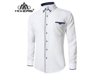 Long Sleeve Business Casual Shirts Men Dress Shirts
