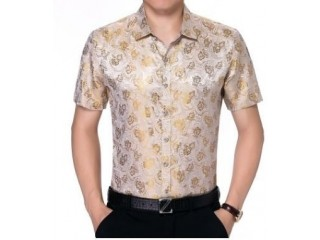 Men Casual Floral Print Shirts Club Shirt