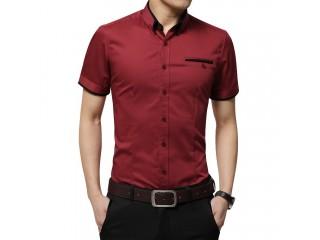 Men's Summer Business Shirt Short Sleeves