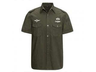 Men Casual Cotton Cargo Shirts