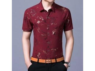 Floral Print Shirts Short Sleeve