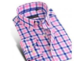 Fashion Plaid Cotton Shirt Men Casual Shirts