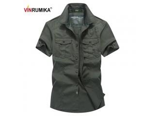 Summer Casual Army Loose Shirt