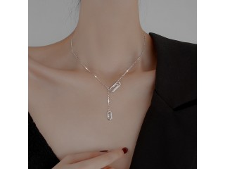 925 Sterling Silver Clip Necklace