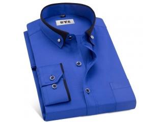 Men Business Dress Shirts Formal Collar Shirt