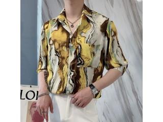 Luxury Men Summer Flower Shirt