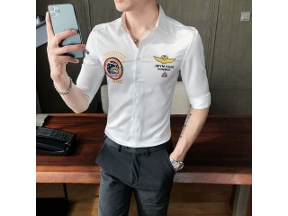 Summer Print Embroidery Luxury Shirt