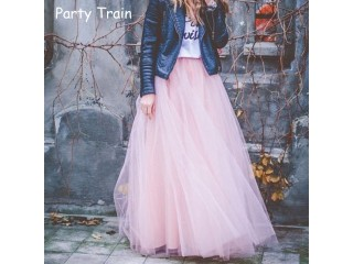 4 layers Voile Tulle Skirt Long Tutu Skirts