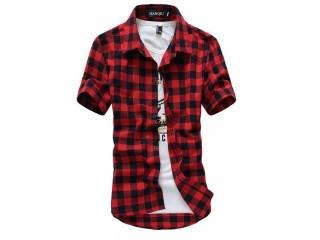 Plaid Shirt Mens Checkered Shirts