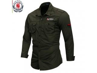 100% Cotton Military Shirt Breathable Casual Shirt