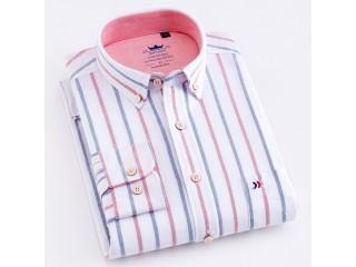 100% Cotton Multi Striped Oxford Dress Shirt
