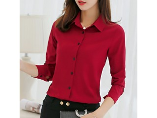 Fashion Shirts Tops Casual Long Sleeve Blouses