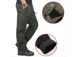 Men Thick Pants Double Layer Military Trousers