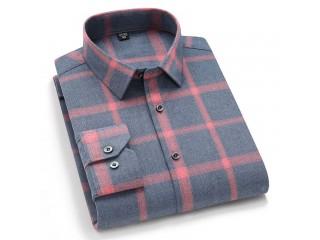 Long Sleeve Brushed Checked Shirt