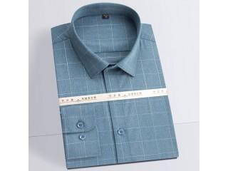 Bamboo Fiber Stretch Checkered Shirt