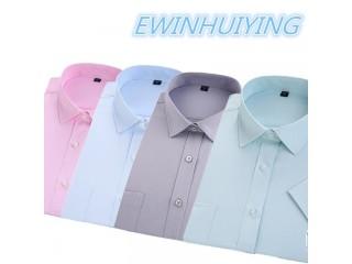 Summer Men Business Dress Shirt