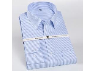 Classic Business Striped Dress Shirt