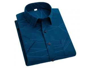 Short Sleeve Print Stripe Shirt