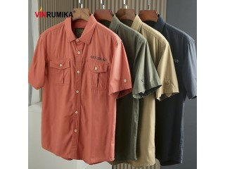Summer Cotton Army Loose Shirts
