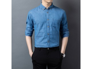 Fashion Denim Blue Casual Shirts