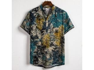 Street Print Shirt Summer Dress
