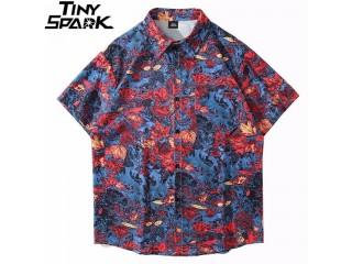 Hawaiian Shirt Hip Hop Streetwear