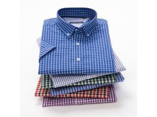 Summer Men Classic Plaid Shirts