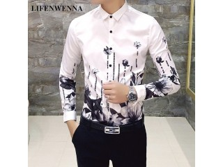 Fashion Print Retro Tuxedo Shirts