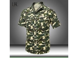 Summer Camouflage Shirts Camo Dress