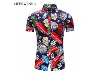 Fashion Print Flower Beach Shirt