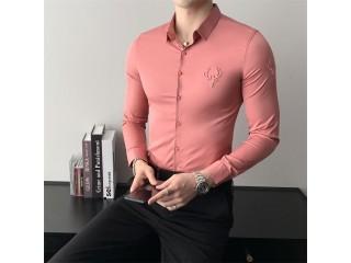 Fashion Long Sleeve Embroidery Shirts