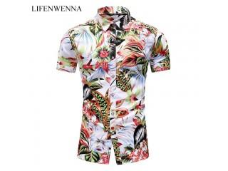 Summer Fashion Men Printed Shirts