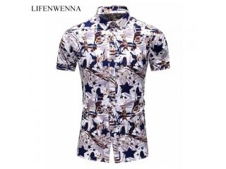 Summer Fashion Printed Hawaiian Shirt