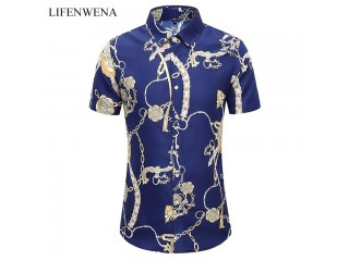 Summer Fashion Personality Print Shirts
