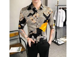 Fashion Half Sleeve Floral Shirts