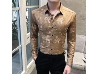 Spring Luxury Digital Print Shirts
