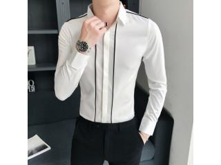 Spring Men Casual Striped Shirts
