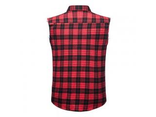 Men Casual Flannel Plaid Shirt