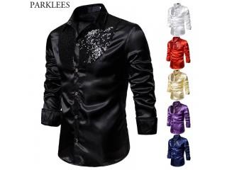 Silk Dress Shirts Dance Prom