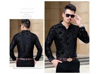 Fancy Floral Embroidery Lace Shirt