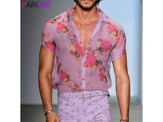 Floral Transparent Lace Sheer Shirt