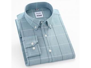 100% Cotton Fashion Plaid Oxford Shirt
