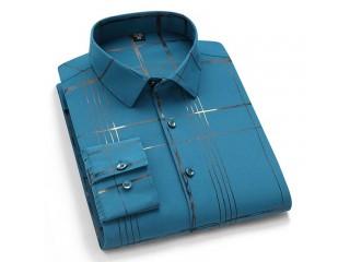 Casual Elastic Long Printed Shirt