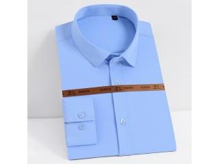 Men Classic Solid Dress Shirts